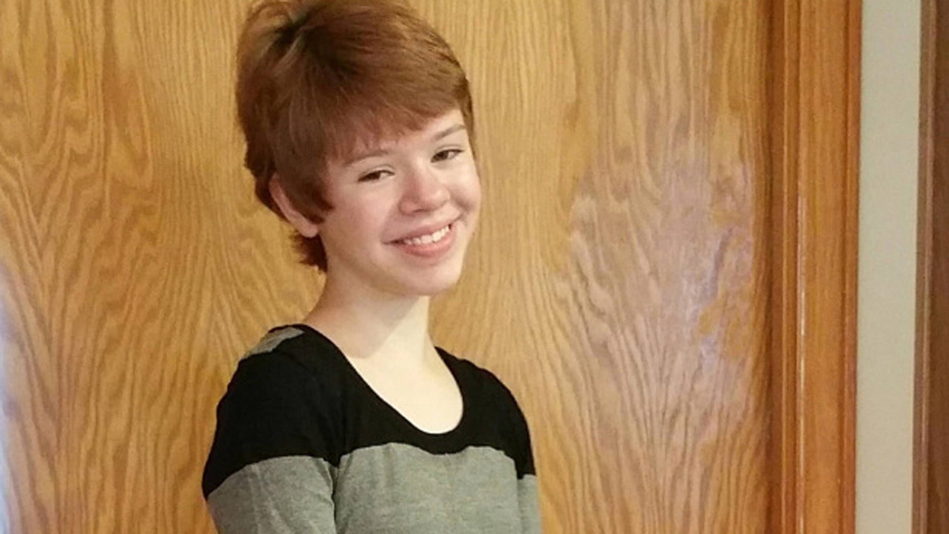 This undated image shows 14-year-old Abigail Kopf, who was critically injured Saturday during a shooting in Kalamazoo, Mich. (Courtesy Kopf Family)