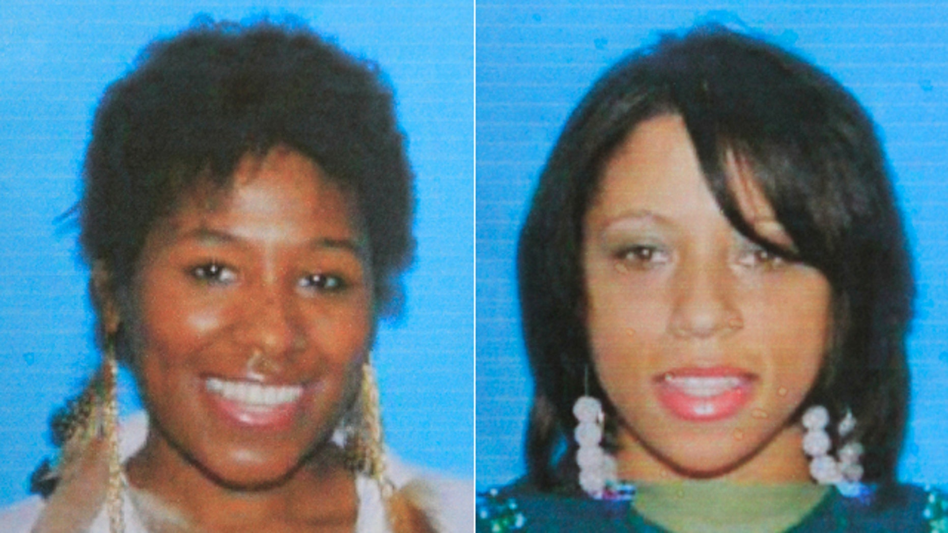 These undated file photos provided by te Hamtramck, Mich., police show Abreeya Carol Brown, left, and her friend, Ashley Conaway.