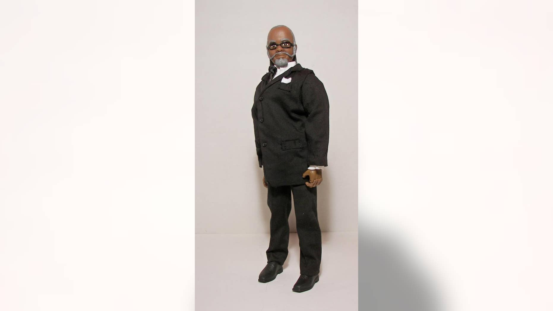 "In this undated photo released by herobuilders.com, the Jimmy McMillan ""The Rent is Too Damn High"" doll is shown. Herobuilders.com, a Connecticut company that makes action figures is selling one of New York governor wannabe. (AP Photo/Herobuilders.com)"
