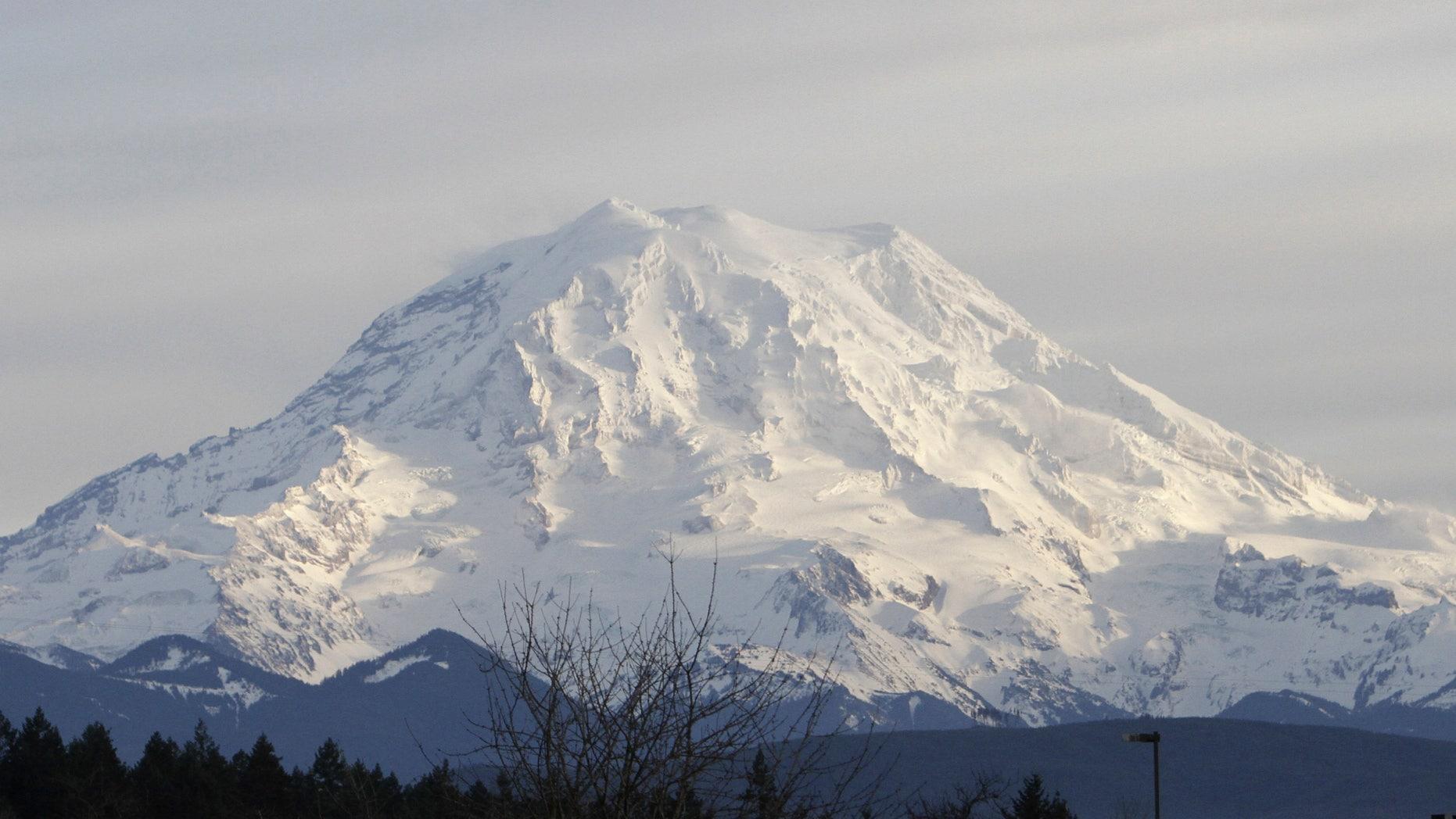 Jan. 1, 2012: A view of Mount Rainier in Washington state.