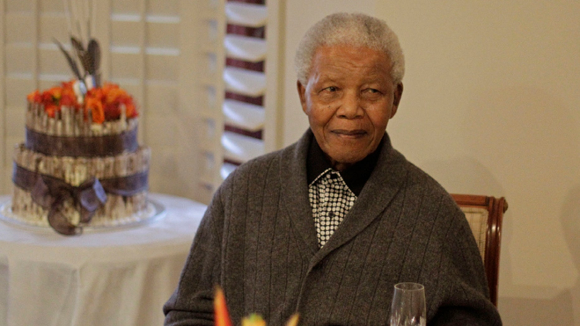 FILE: July 18, 2012: Former South African President Nelson Mandela as he celebrated his birthday with family in Qunu, South Africa.