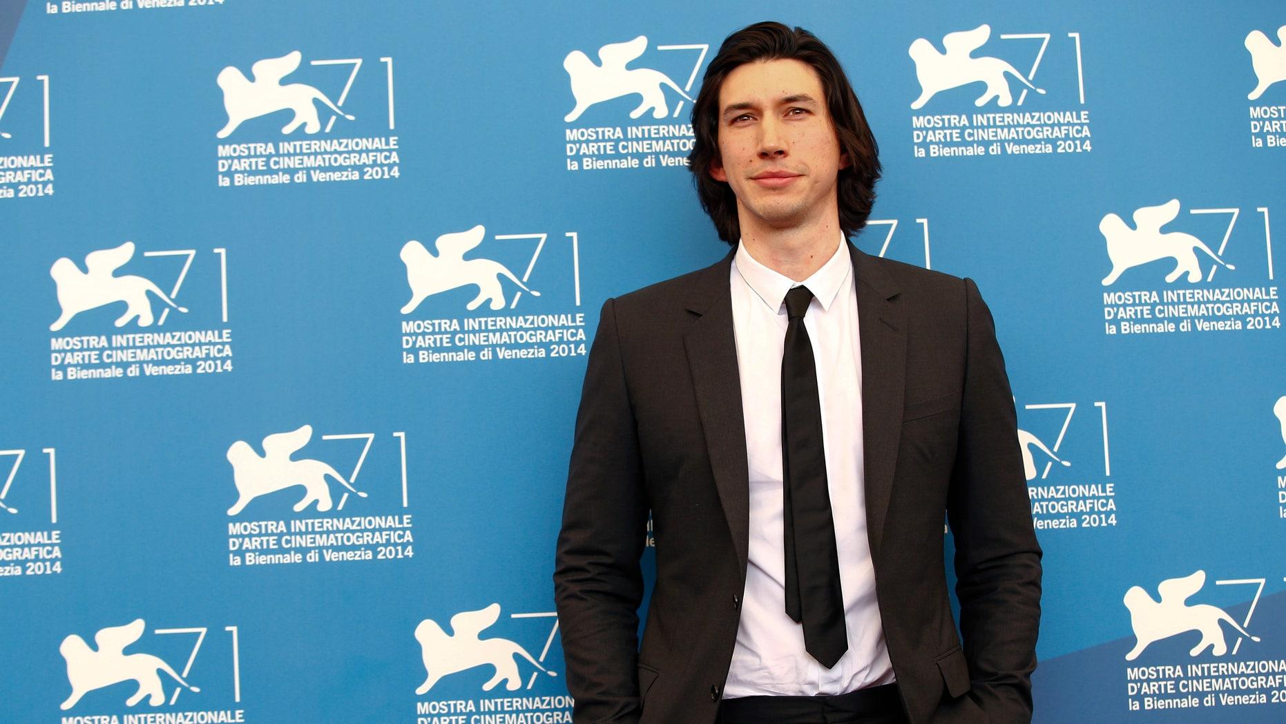 August 31, 2014. Adam Driver at the 71st Venice Film Festival.