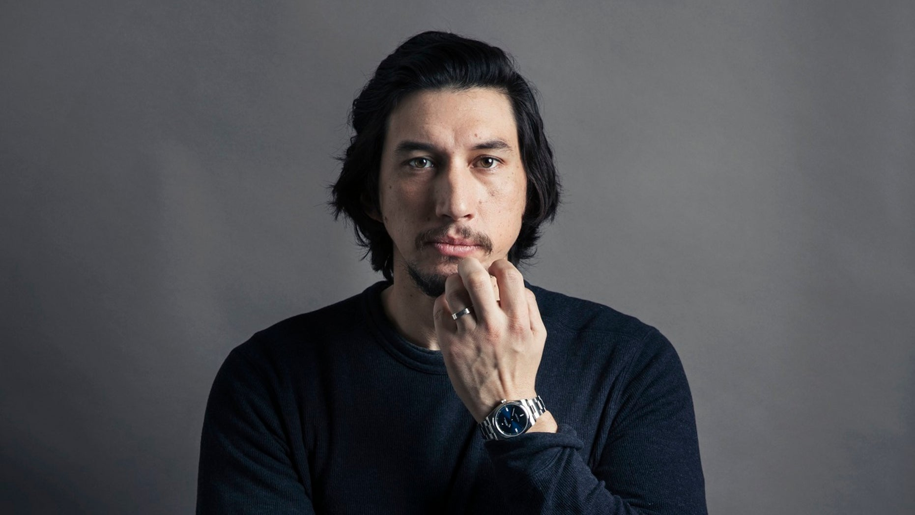 "Adam Driver plays Kylo Ren in ""Star Wars: The Last Jedi."""