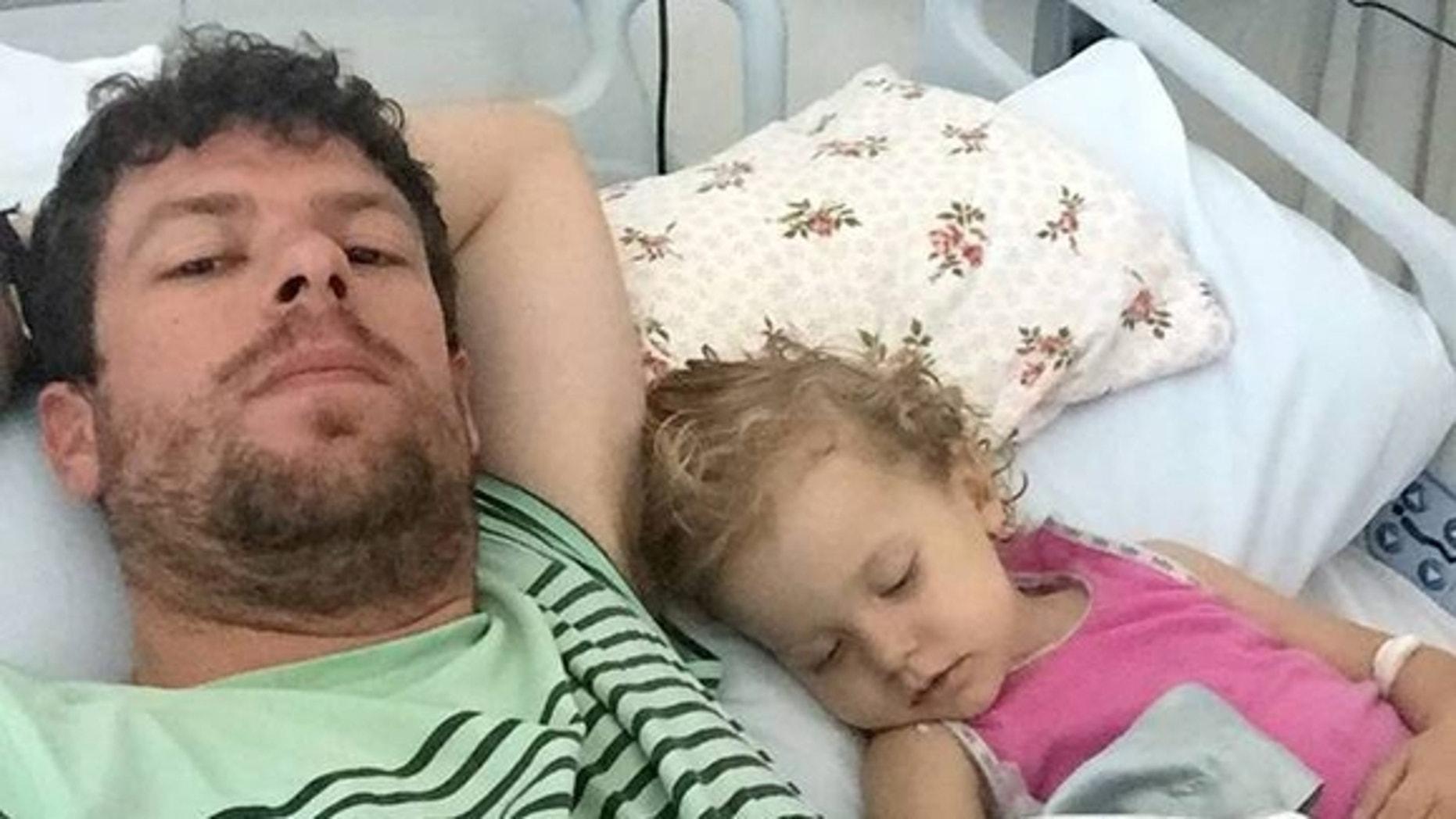 Adam Koessler and his daughter Rumer Rose.