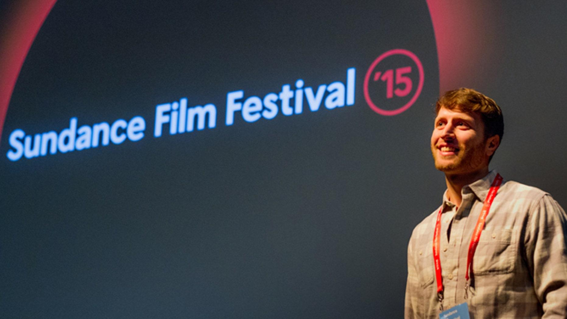 "Director Matthew Heineman speaks to audience after premiere of ""Cartel Land"" at the Sundance Film Festival."
