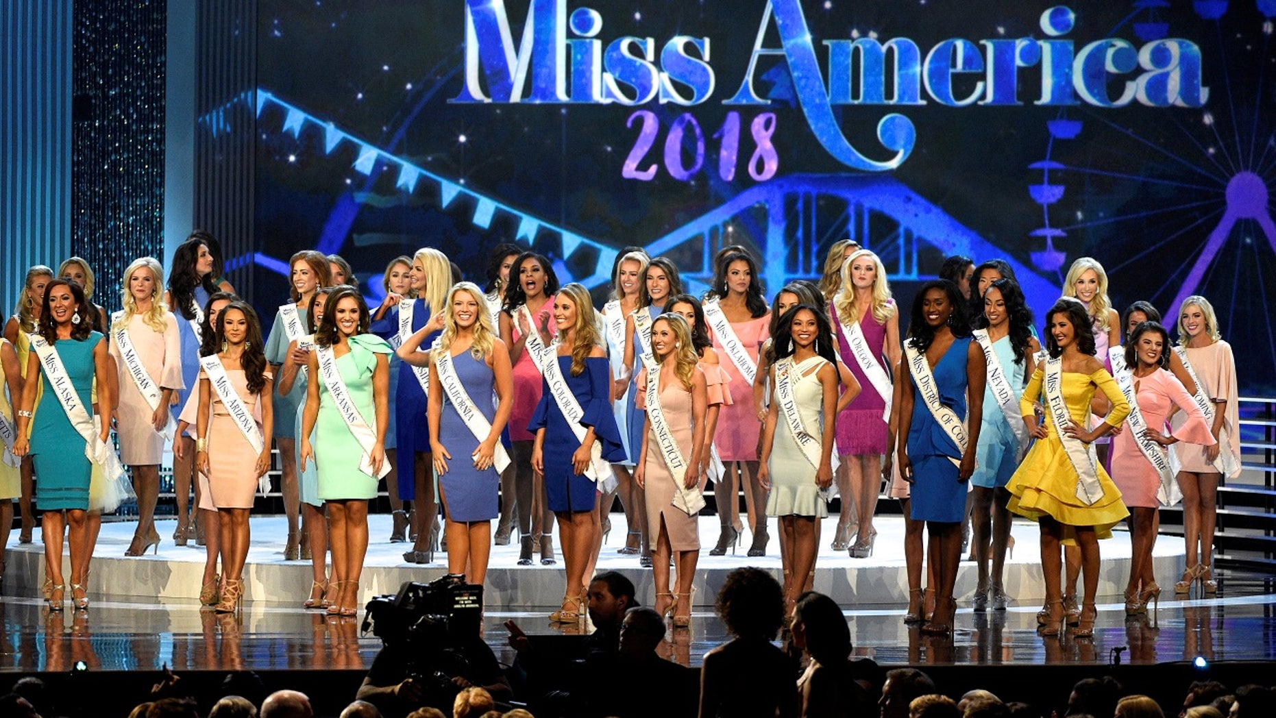 The Miss America organization is raising the maximum age of contestants from 24 to 25. Pictured are contestants in September 2017.