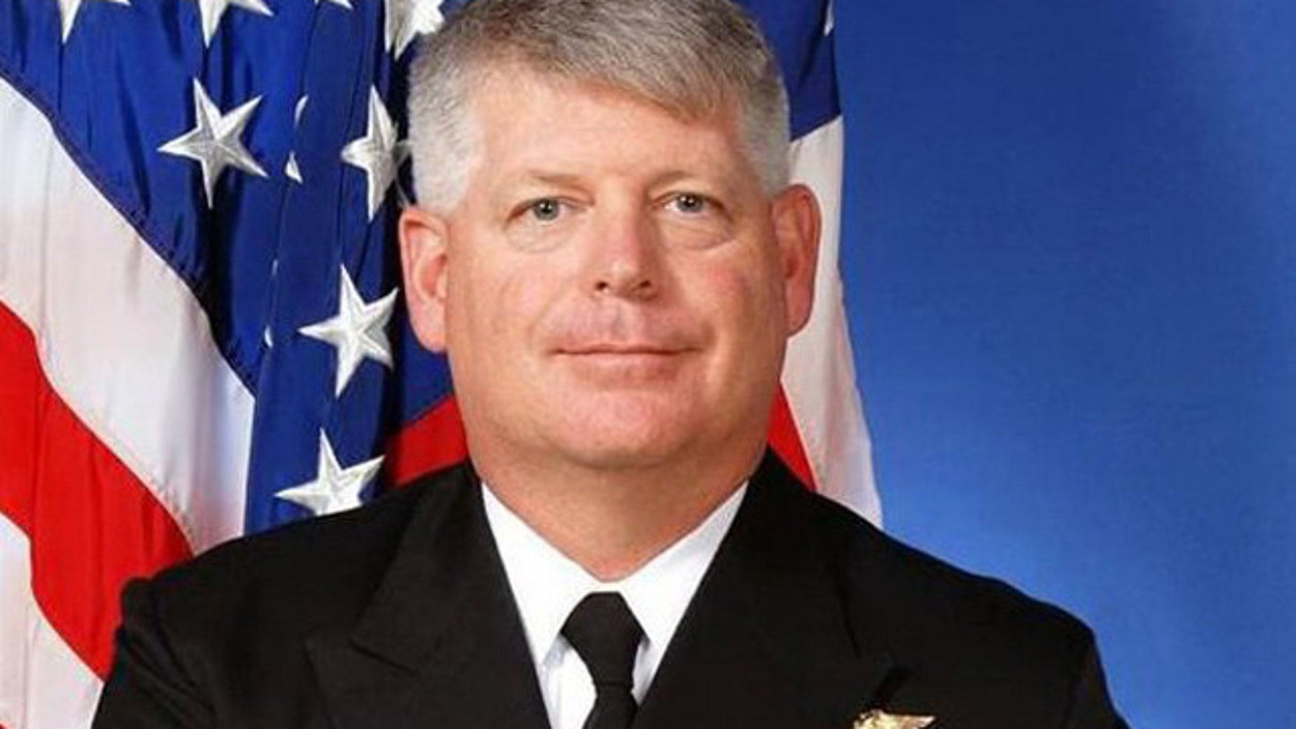 This undated photo shows U.S. Navy Rear Admiral Robert Gilbeau
