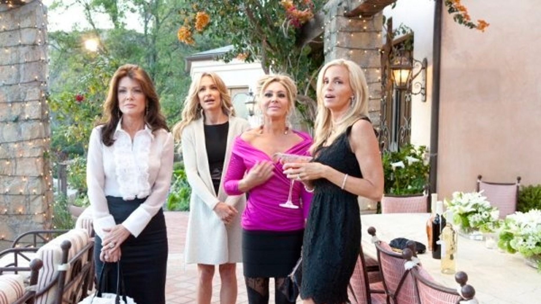 """Real Housewives of Beverly Hills"" cast members (left to right) Lisa Vanderpump, Taylor Armstrong, Adrienne Maloof, Camille Grammer are shown."