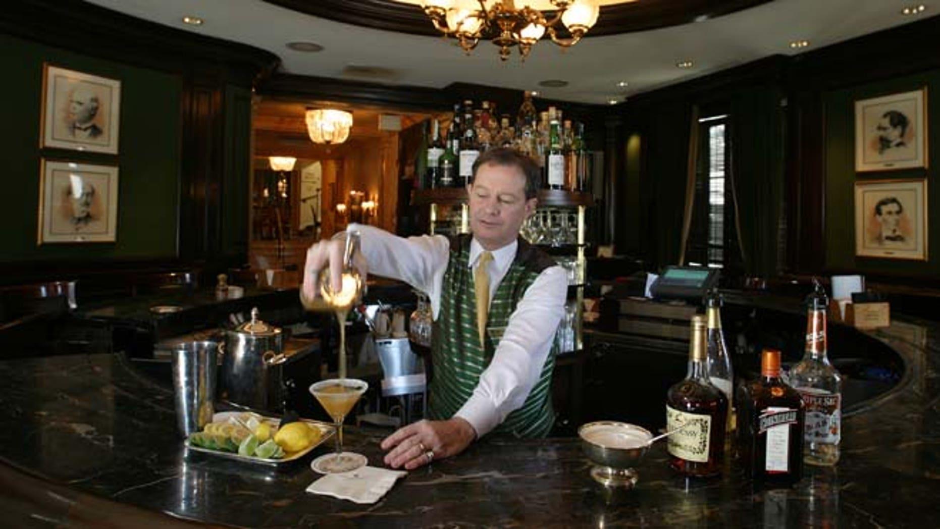 Jim Hewes at the Willard's Round Robin Bar