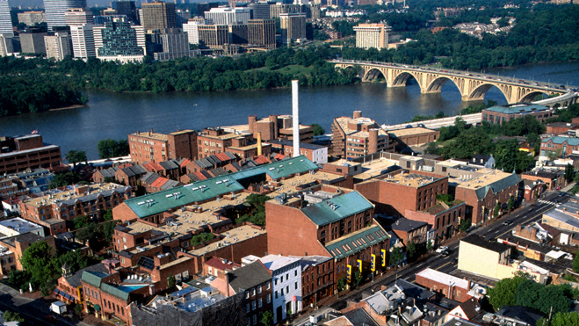 An aerial view of Georgetown