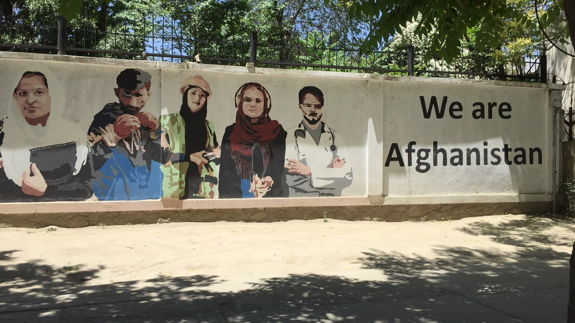 Streets of Kabul, outside the Resolute Support HQ.