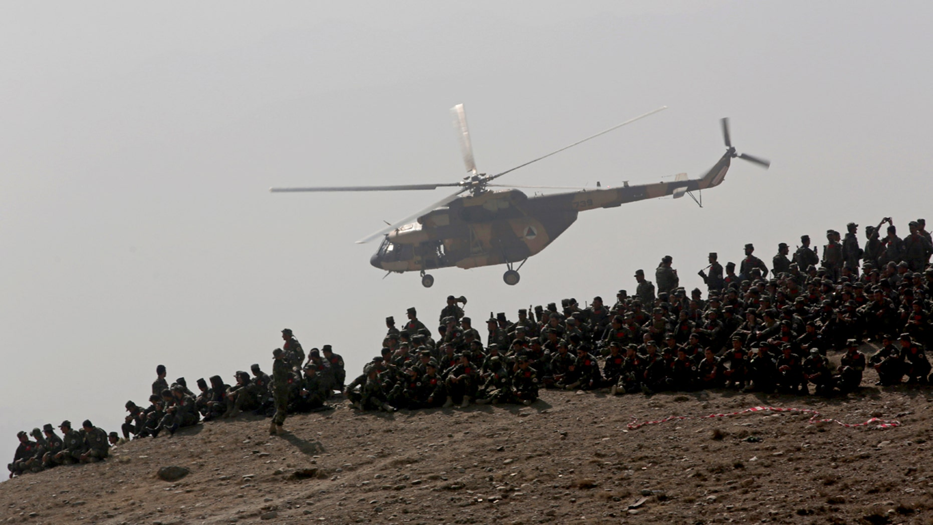 Afghan forces in training.