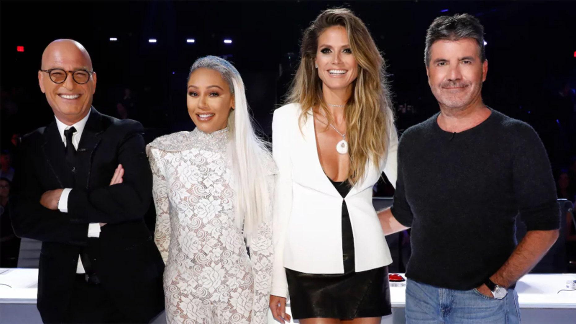 """America's Got Talent"" judges Howie Mandel, Mel B, Heidi Klum and Simon Cowell"