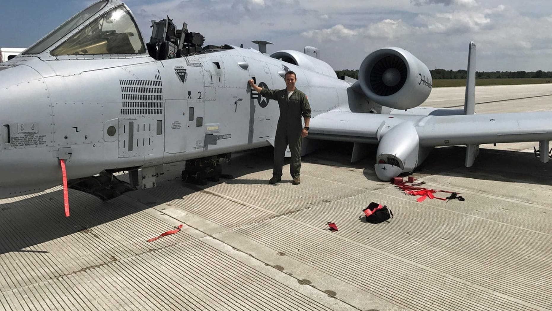 Capt. Brett DeVries, an A-10 Thunderbolt II pilot of the 107th Fighter Squadron from Selfridge Air National Guard Base in Michigan, was forced to make an emergency landing on July 20 after a malfunction.