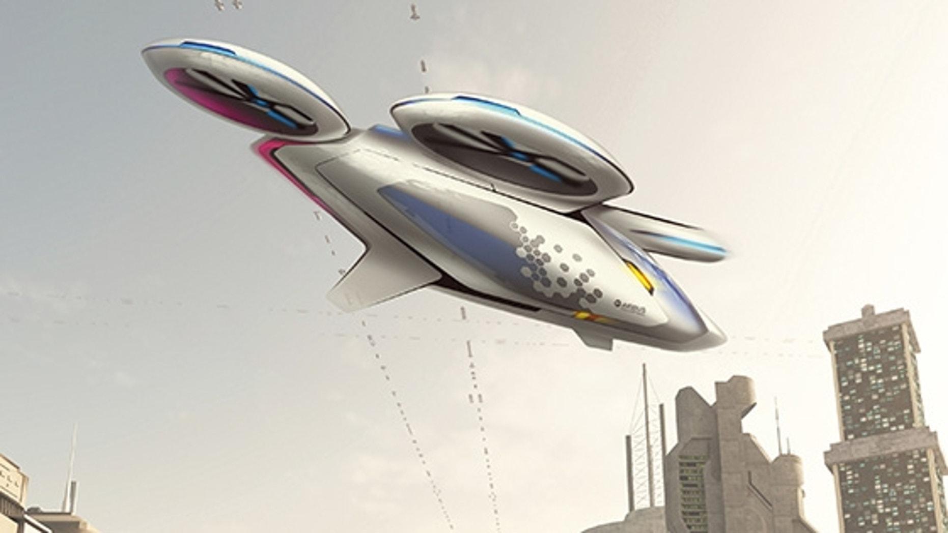 Artist's impression of the multipropeller CityAirbus vehicle (Airbus)