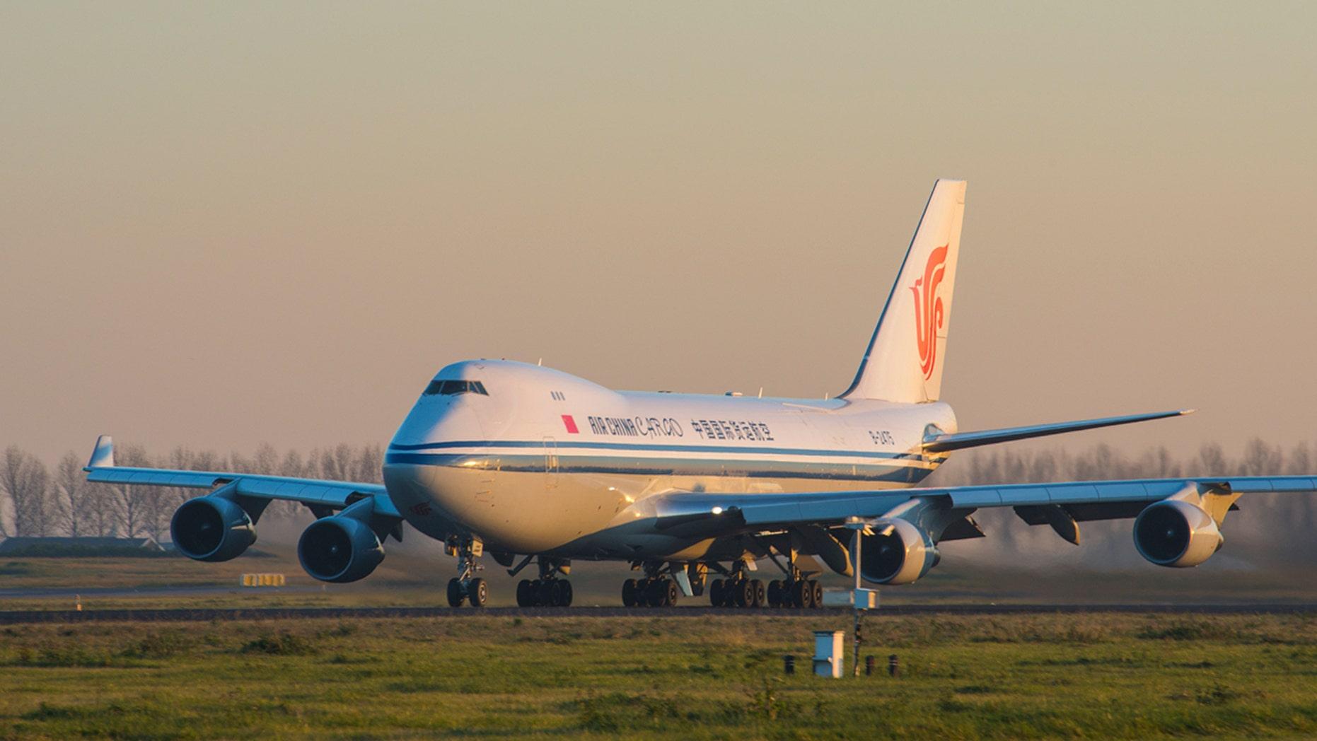 Air China Flight 1350 (not pictured) was rerouted to Zhengzhou, where authorities were waiting.