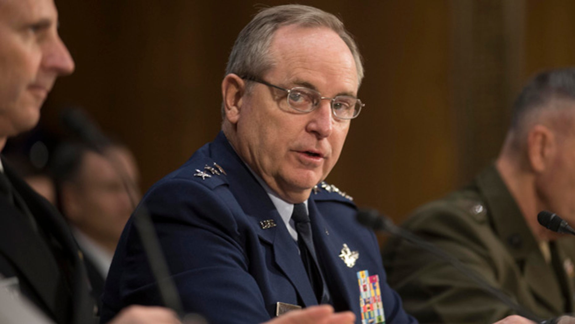 Jan. 28, 2015: Air Force Chief of Staff Gen. Mark Welsh III testifies on Capitol Hill in Washington.