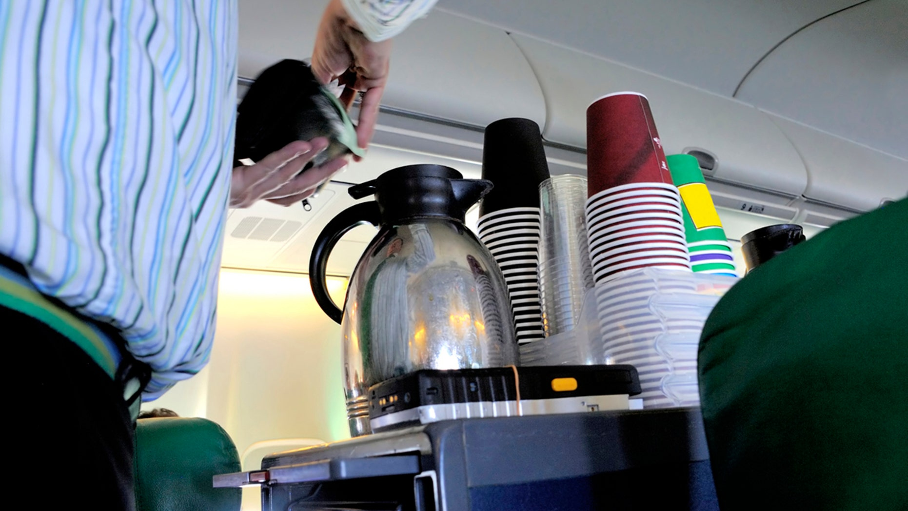 """An unidentified flight attendant for a """"major American airline"""" is cautioning passengers about drinking coffee, alleging that the water used is unsafe."""