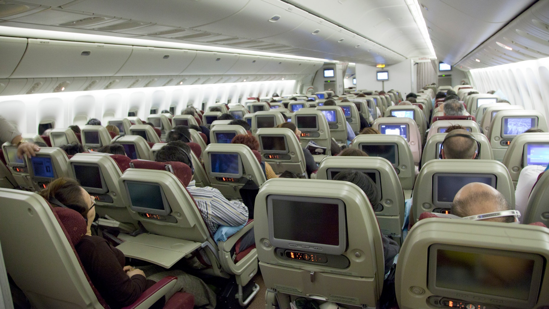 """Watch your back: Expedia's 2014 Airplane Etiquette Study found that the """"Rear Seat Kicker"""" is the worst type of airplane passenger."""