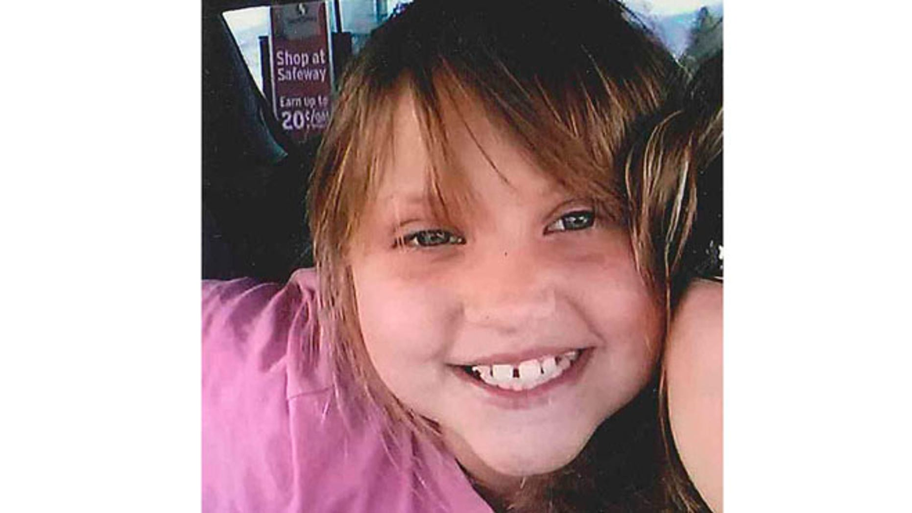This undated file photo provided by the Bullhead City Police Department shows Isabella Bella Grogan-Cannella, an 8-year-old Bullhead City, Ariz., girl who was reported missing on Tuesday, Sept. 2, 2014.