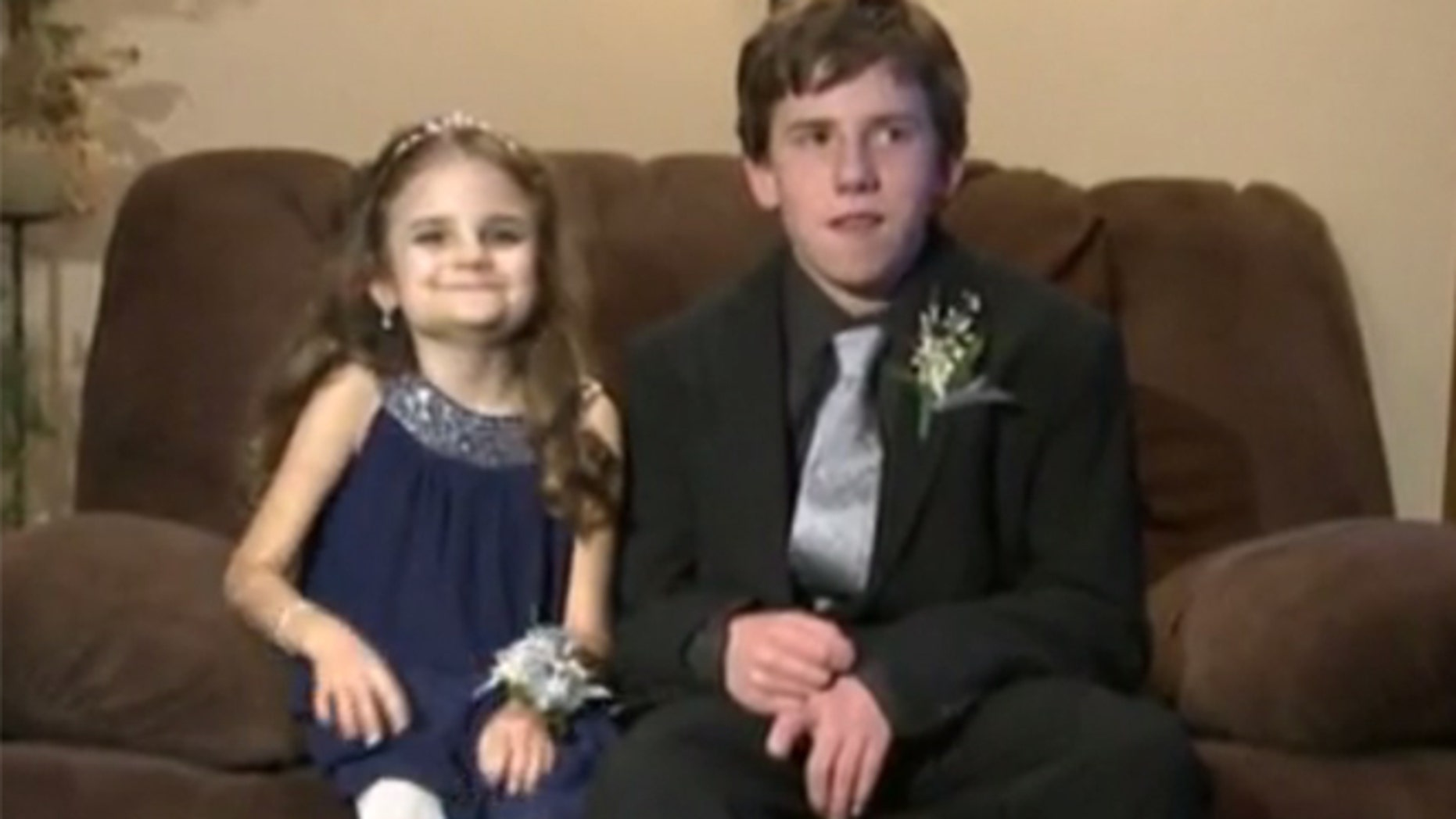 AJ Spader, right, took his sister, who is battling a rare cancer, to a winter dance instead of a classmate.