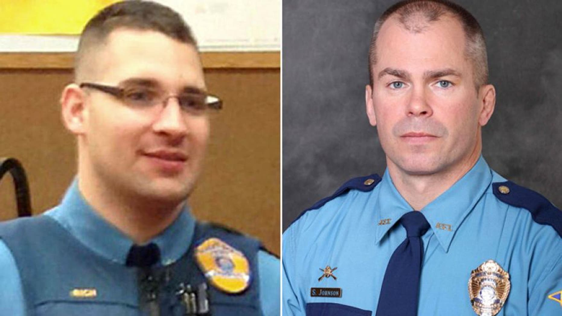 """These undated photos released by the Department of Public Safety show Alaska State Trooper Gabriel """"Gabe"""" Rich and Sgt. Patrick """"Scott"""" Johnson.AP/DEPARTMENT OF PUBLIC SAFETY"""