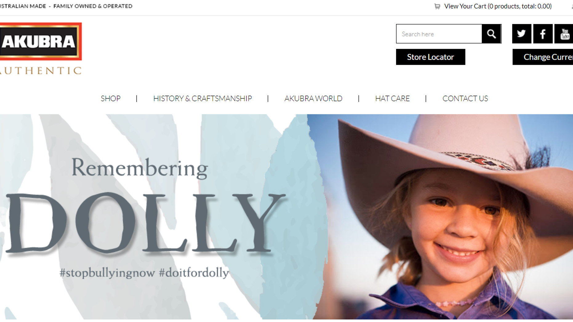 """Amy """"Dolly"""" Everett, who was the face of Akubra hats, committed suicide last week."""