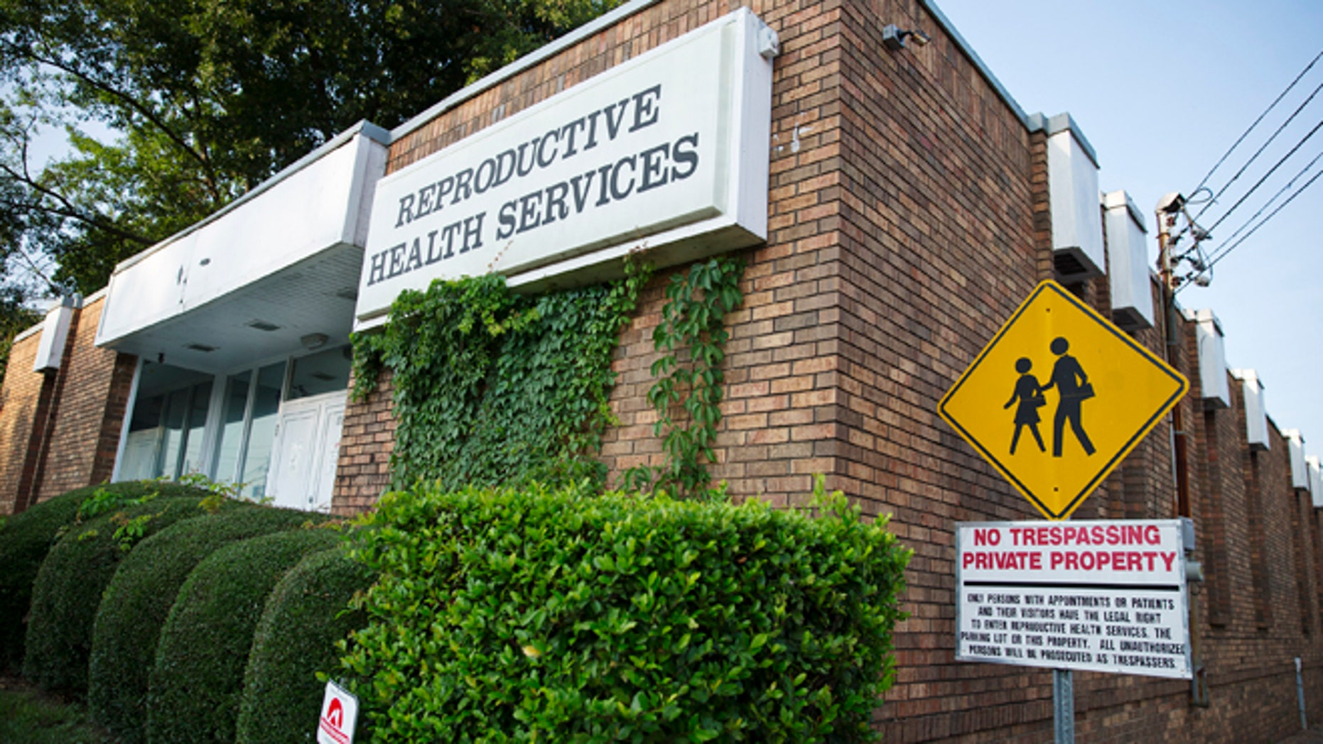 July 30, 2014: Reproductive Health Services is shown in Montgomery, Ala.