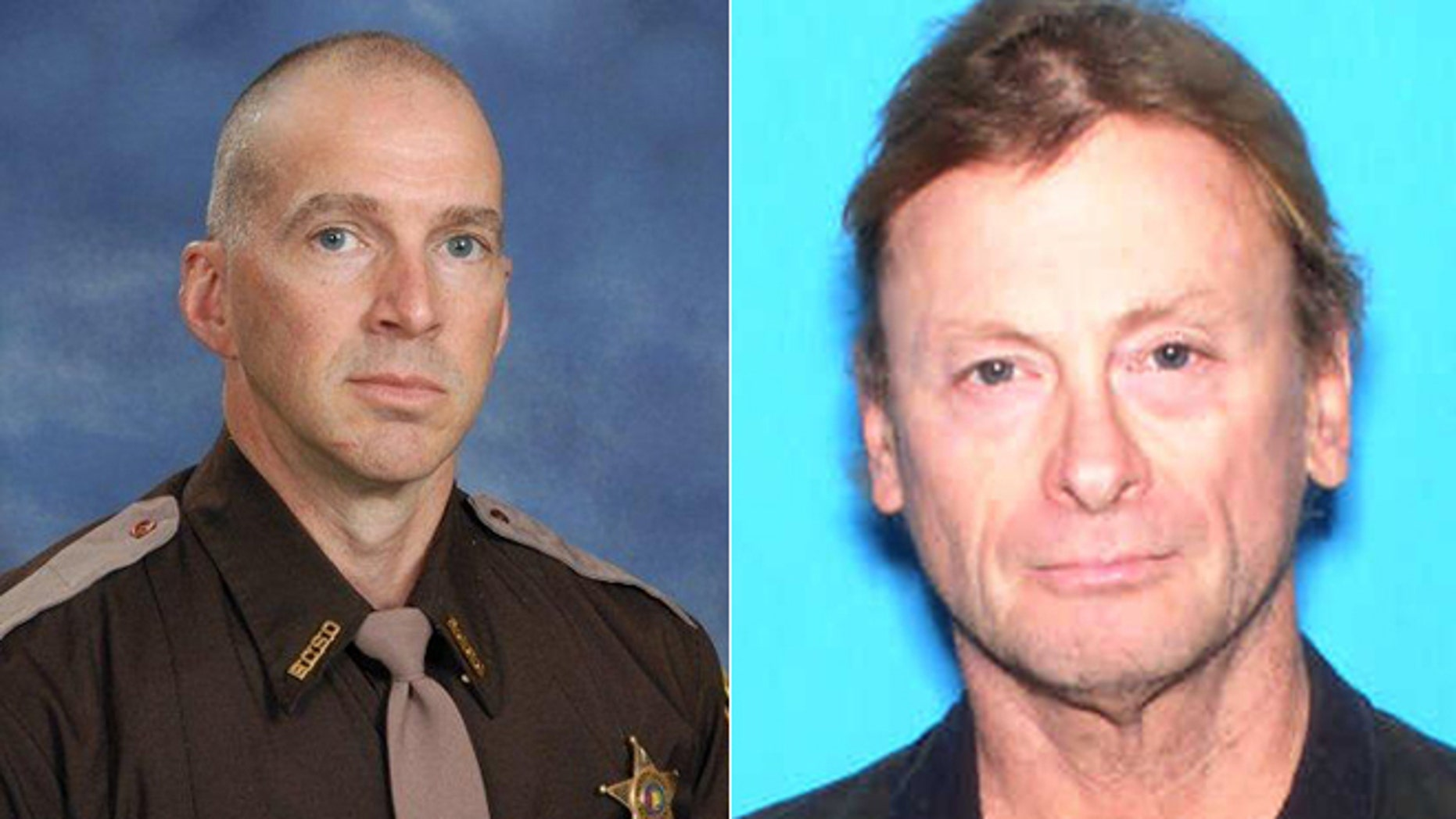 From the left, Sheriff Deputy Scott Ward was fatally shot during a shootout with Michael Jansen, authorities say.