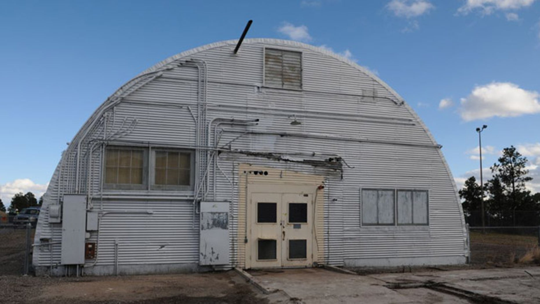 This undated image provided by the Los Alamos National Laboratory shows the Quonset hut where the bomb that was dropped on Nagasaki was assembled.