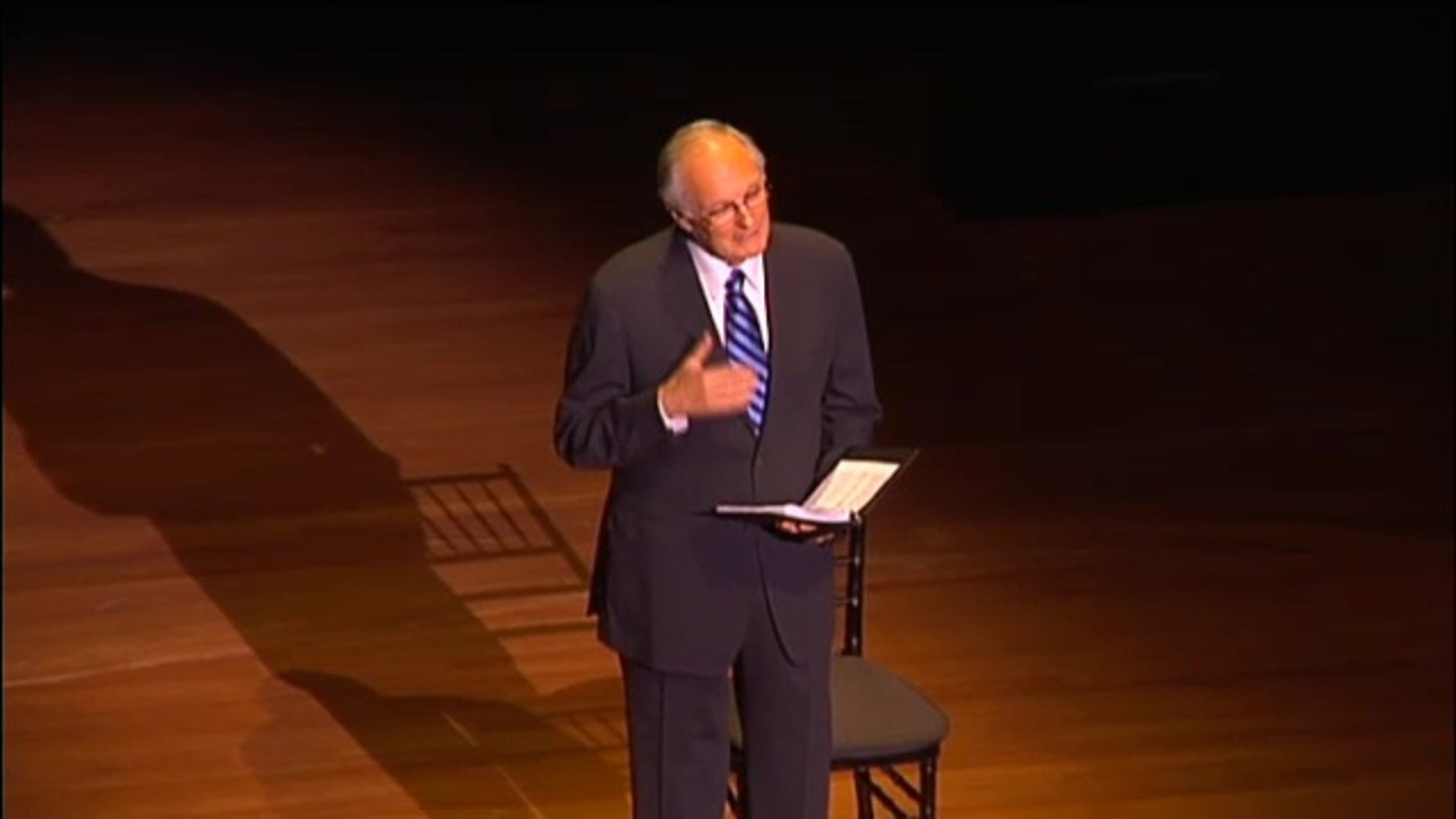"June 1, 2011: Alan Alda, the long-time host of the PBS show ""Scientific American Frontiers,"" discusses the debut of his play about the life of Marie Curie at the 2011 World Science Festival."