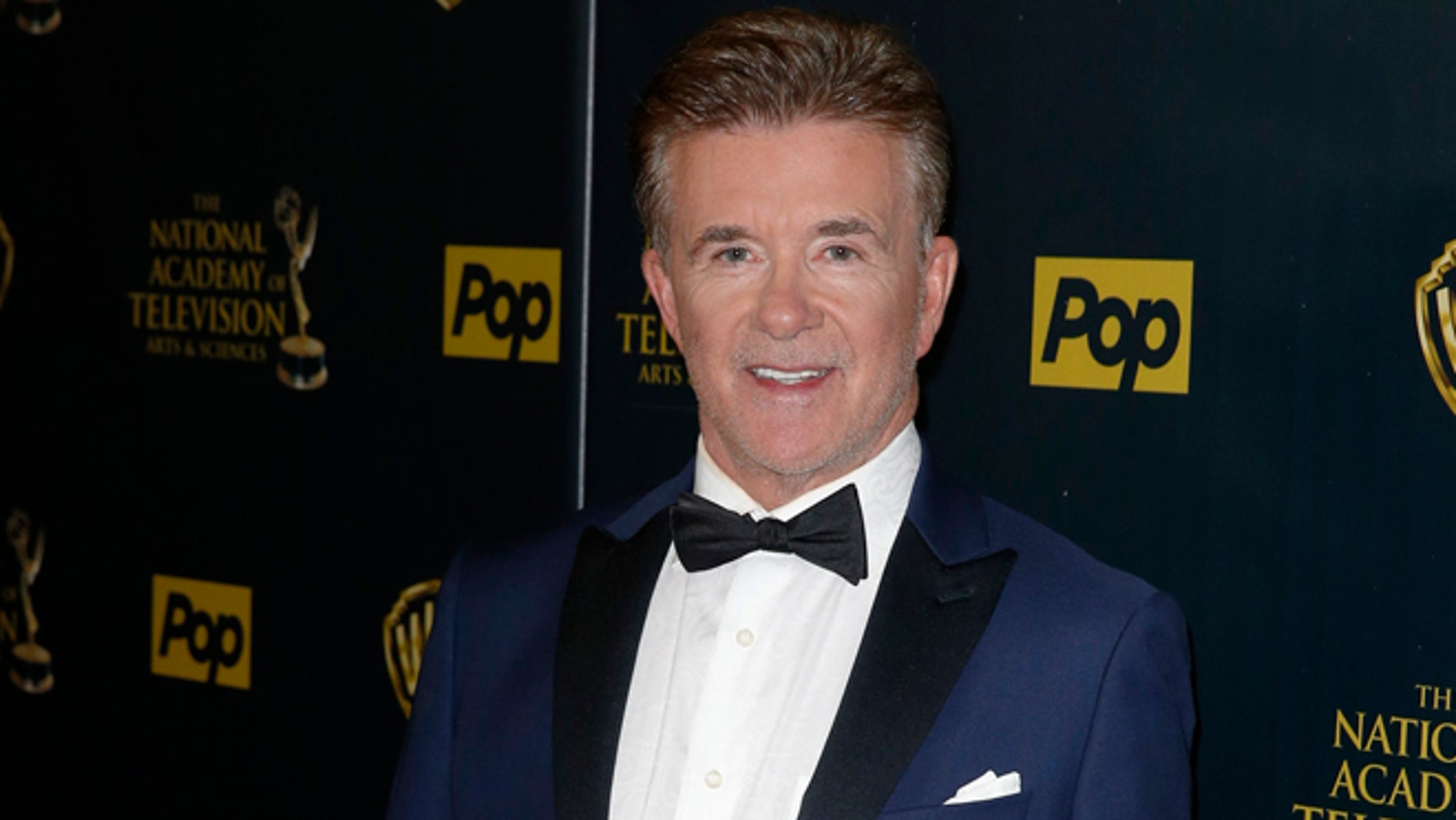 Actor Alan Thicke poses backstage at the 42nd Annual Daytime Emmy Awards in Burbank, California April 26, 2015.  REUTERS/Patrick T. Fallon - RTX1AE3D