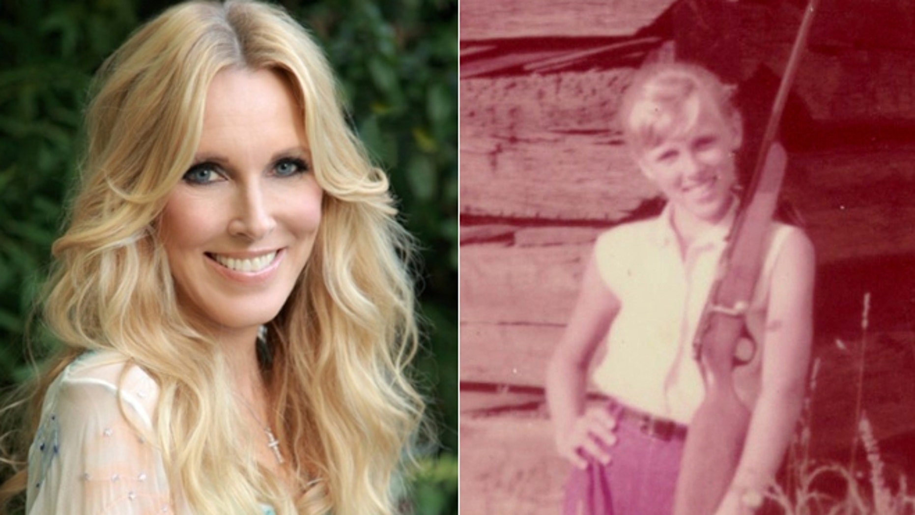 Alana Stewart now and as a young girl in Texas.