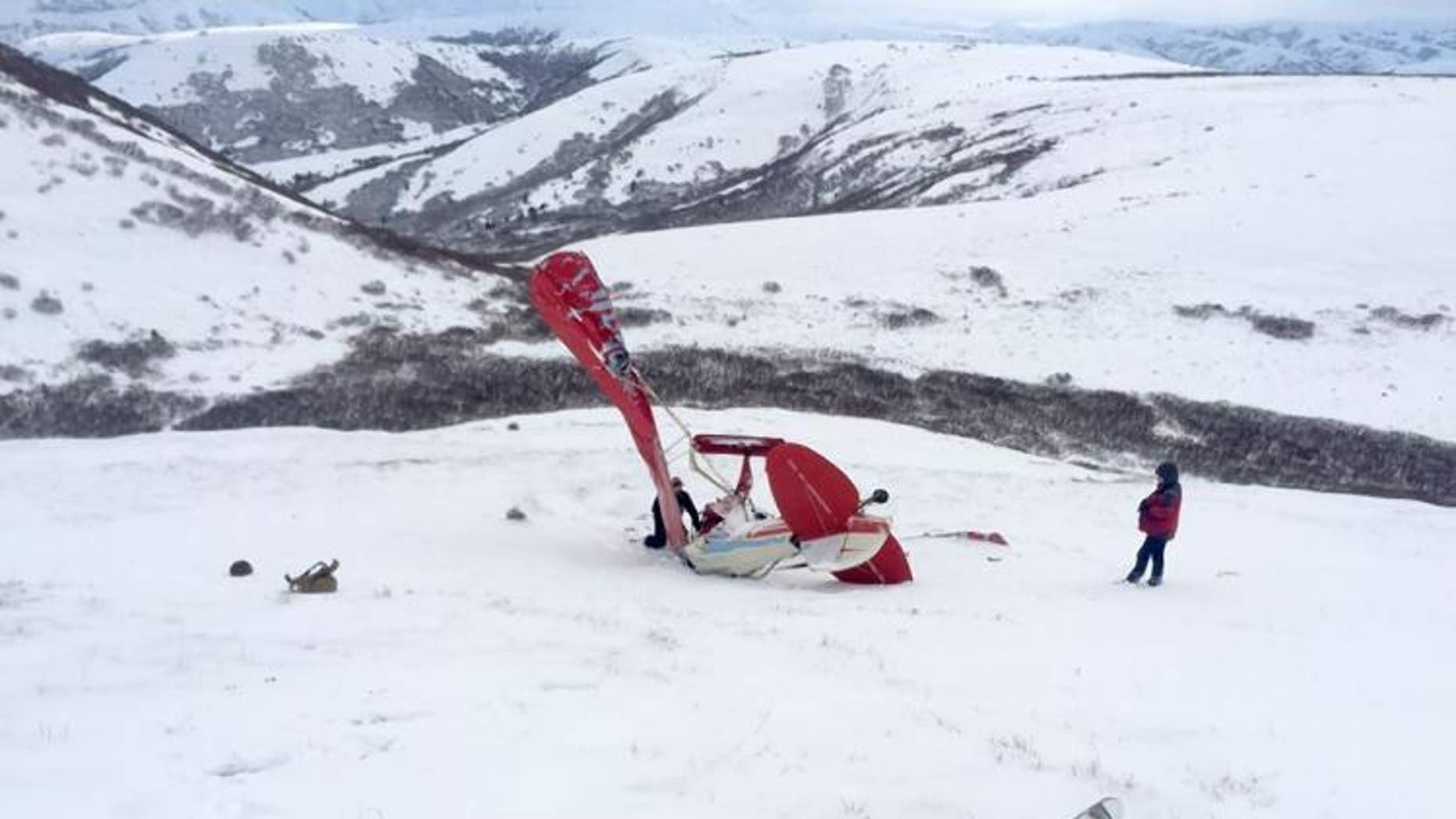 The plane crashed on Marvel Dome in Alaska in December 2016.