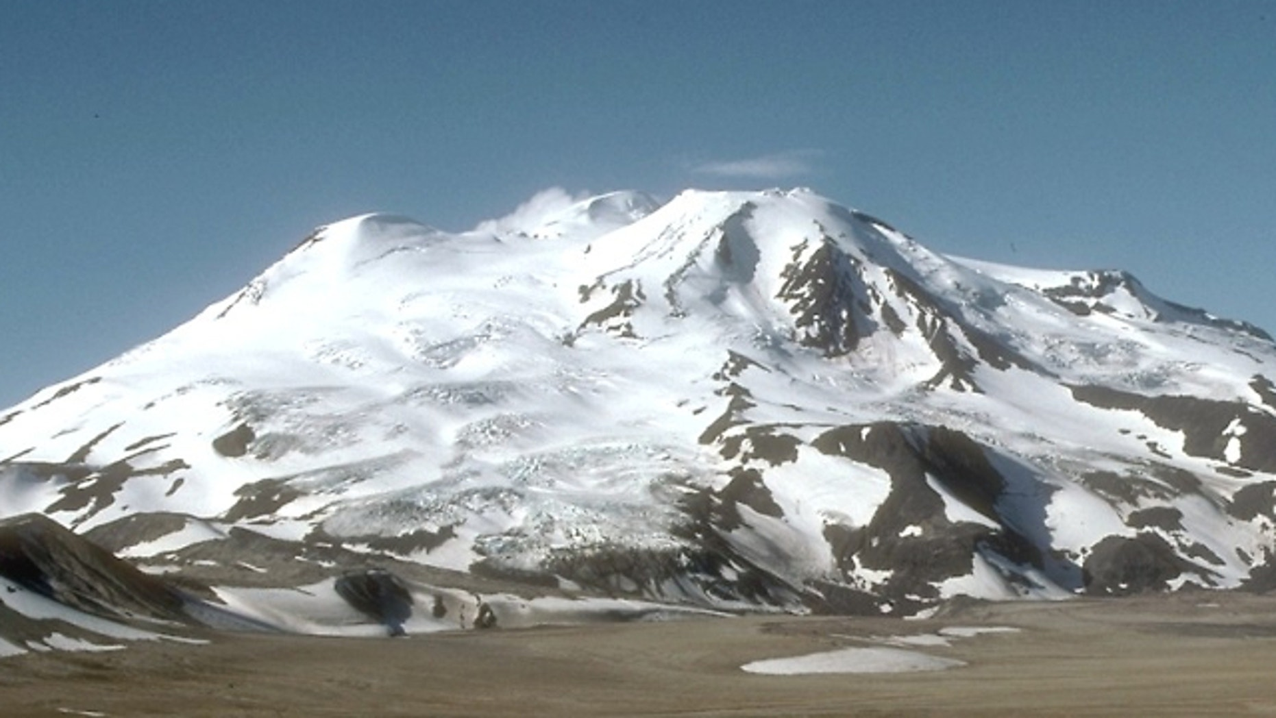 FILE: The Mount Mageik volcano is shown from the Valley of Ten Thousand Smokes, Katmai National Park and Preserve, Alaska
