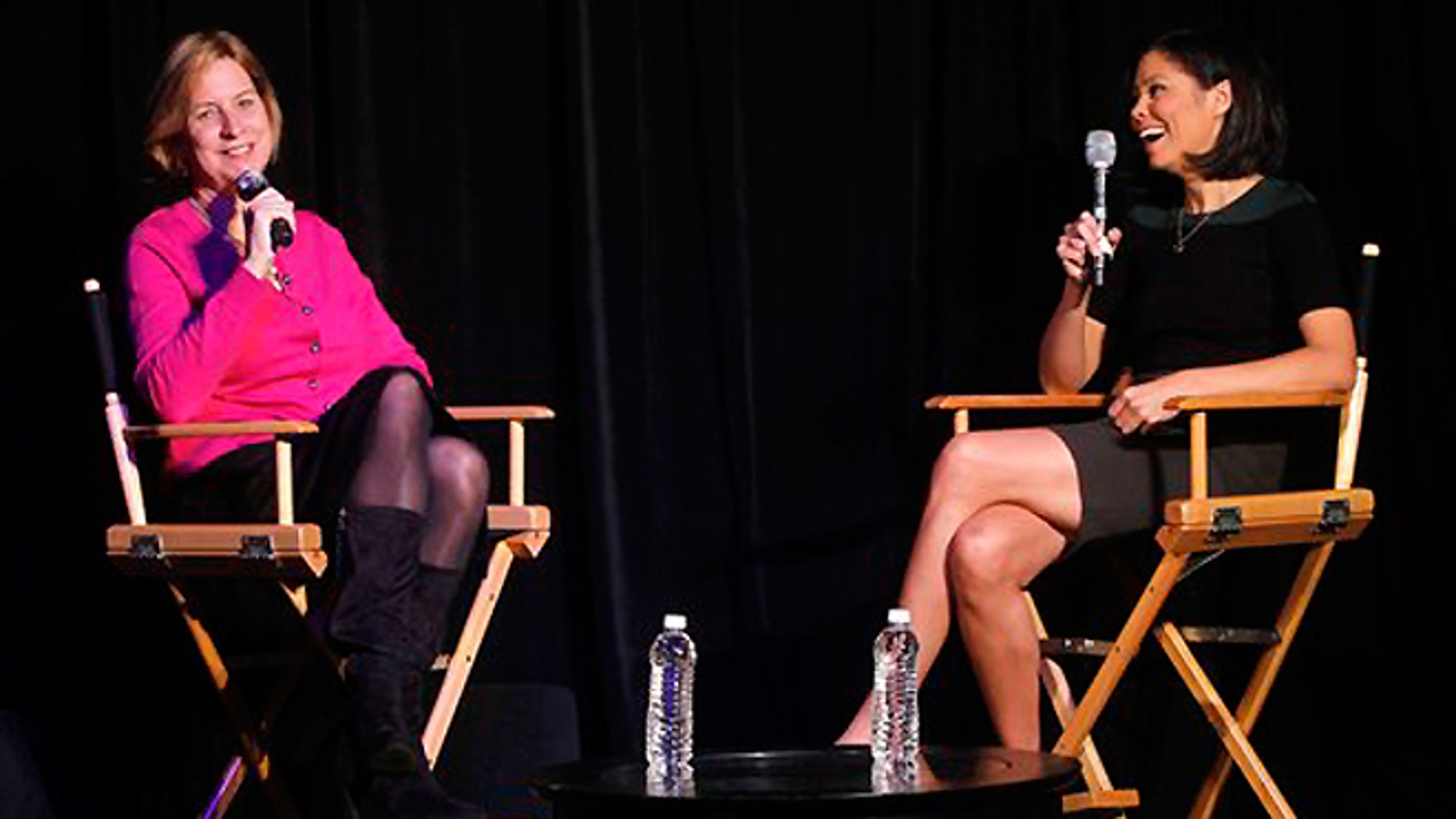 Oct. 2: NBC News Chief Digital Officer Vivian Schiller, left, speaks with MSNBC political analyst and news anchor Alex Wagner during a panel at Advertising Week in New York.