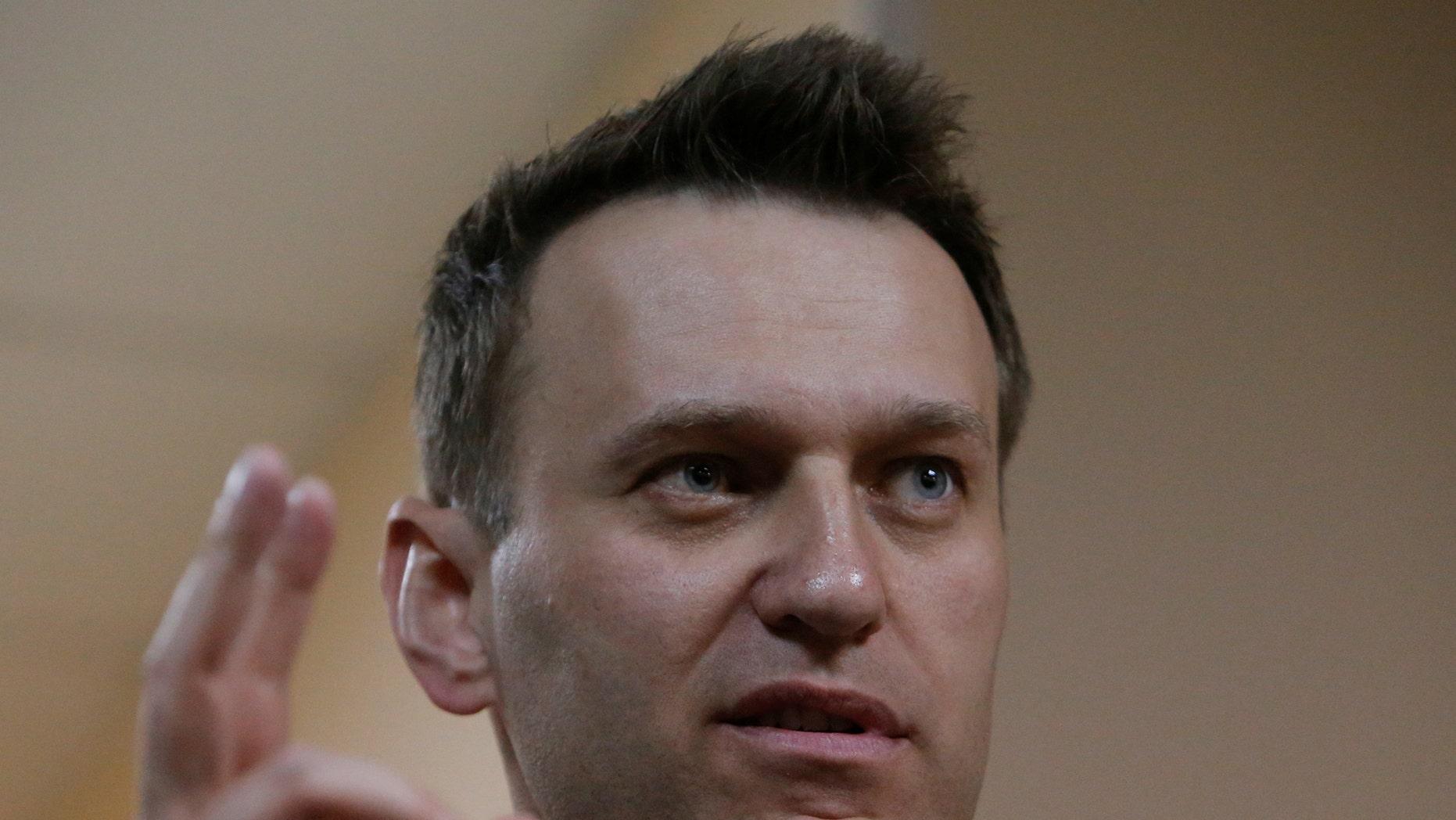 Russian leading opposition figure Alexei Navalny.
