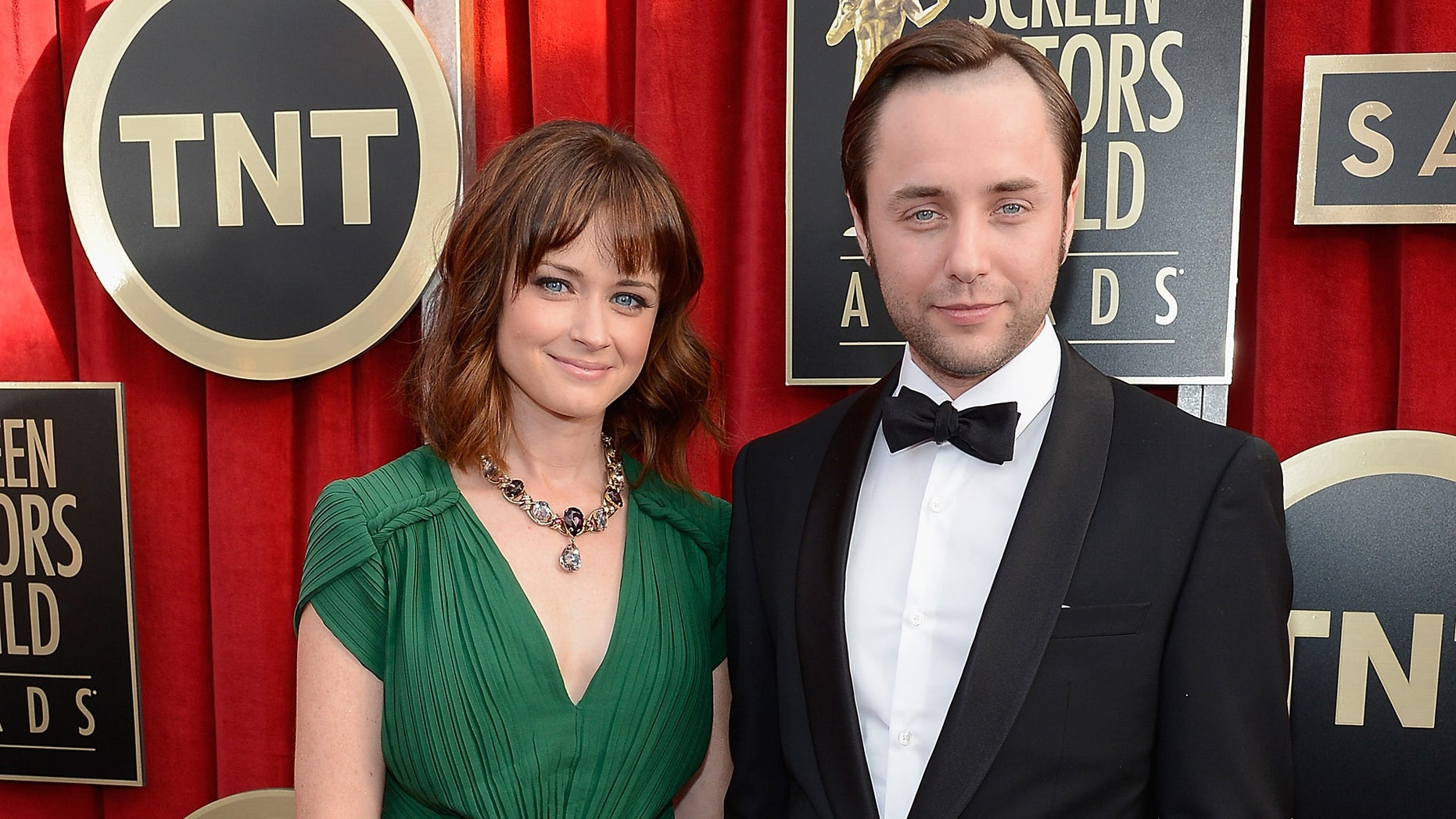 Alexis Bledel and Vincent Kartheiser on January 27, 2013 in Los Angeles, California.