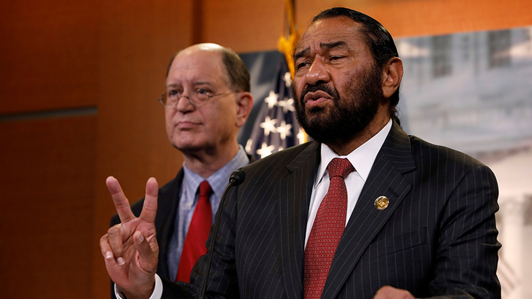 """Rep. Al Green, R-Texas, released a statement Monday insisting that drama surrounding a relationship with a former aide in 2008 """"has been resolved."""""""