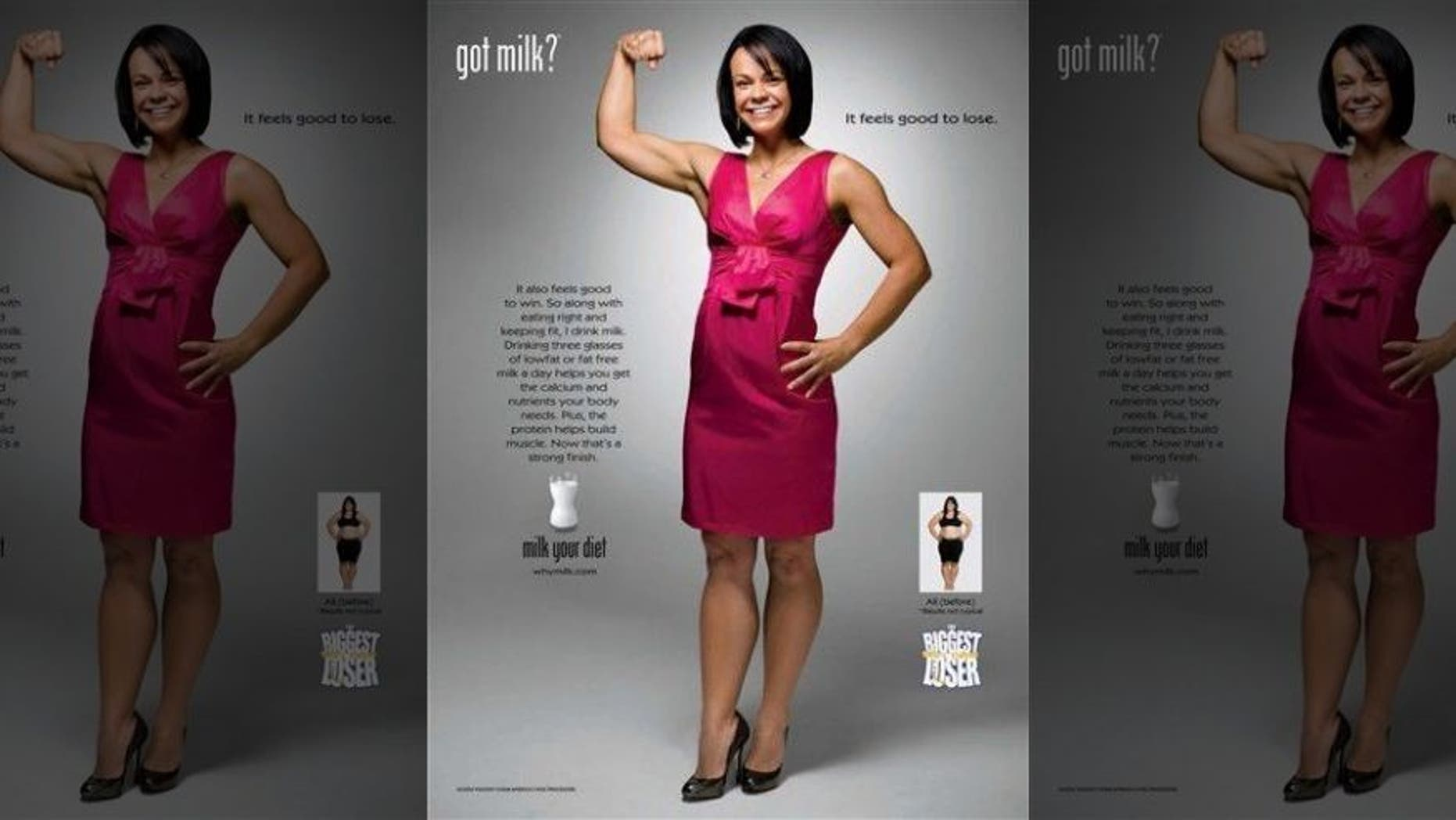 """In this 2008 image released by the Milk Processor Education Program, Ali Vincent is shown in the latest """"got milk"""" print advertisement. (AP)"""