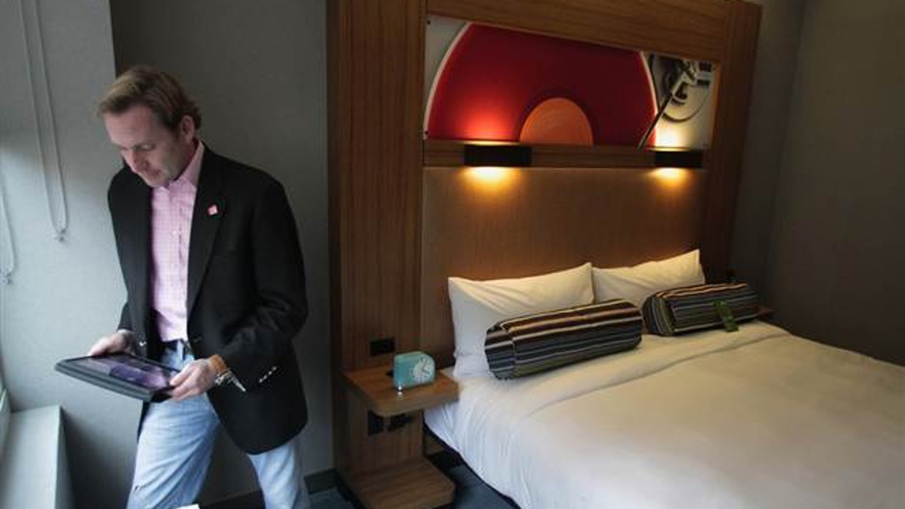 Brian McGuinness, senior vice president of specialty select brands for Starwood, in the Aloft hotel in Harlem, NYC.