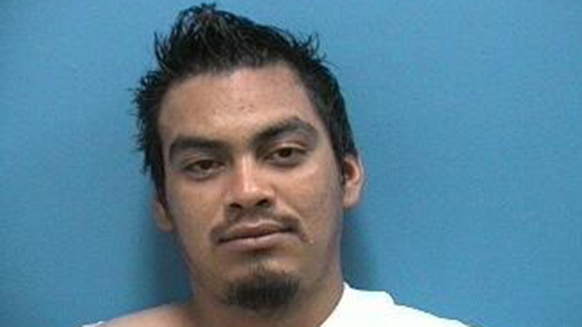 Maeli Alvarez-Aguilar was caught with a 'full rack of ribs' in his pants, police say.