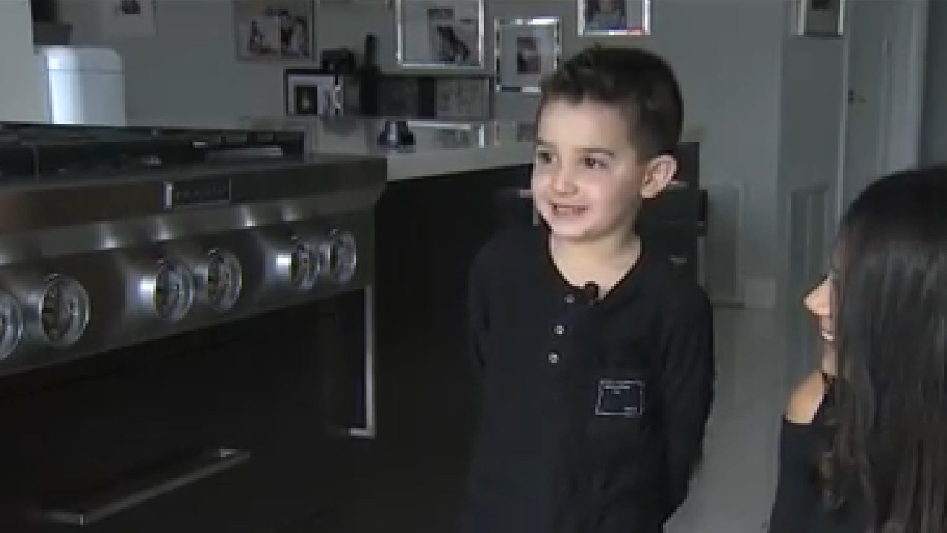 Mason Einhorn alerted his mother to the fire in the kitchen.