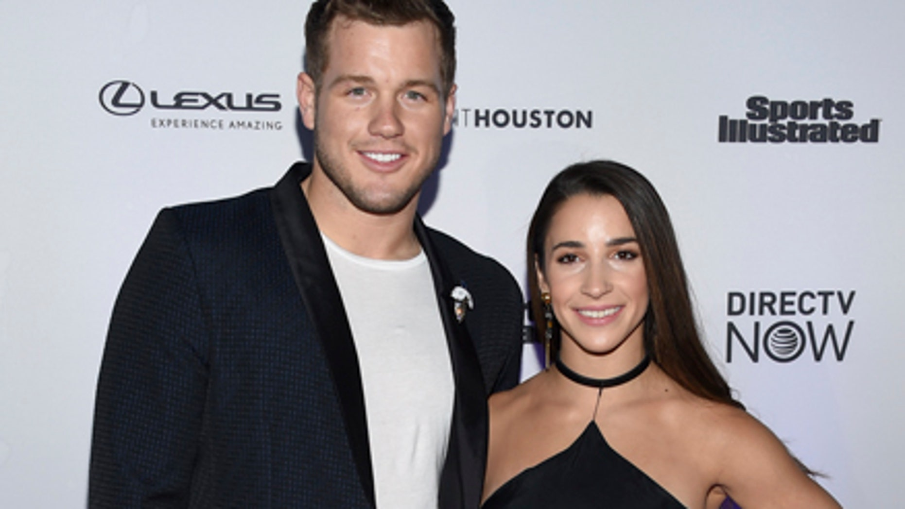 Colton Underwood with his ex-girlfriend, Olympic gold medalist Aly Raisman.