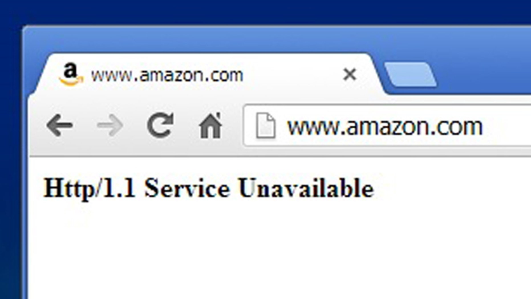 Jan. 31, 2013: Amazon.com's website is offline, a rarity for the Internet shopping giant.