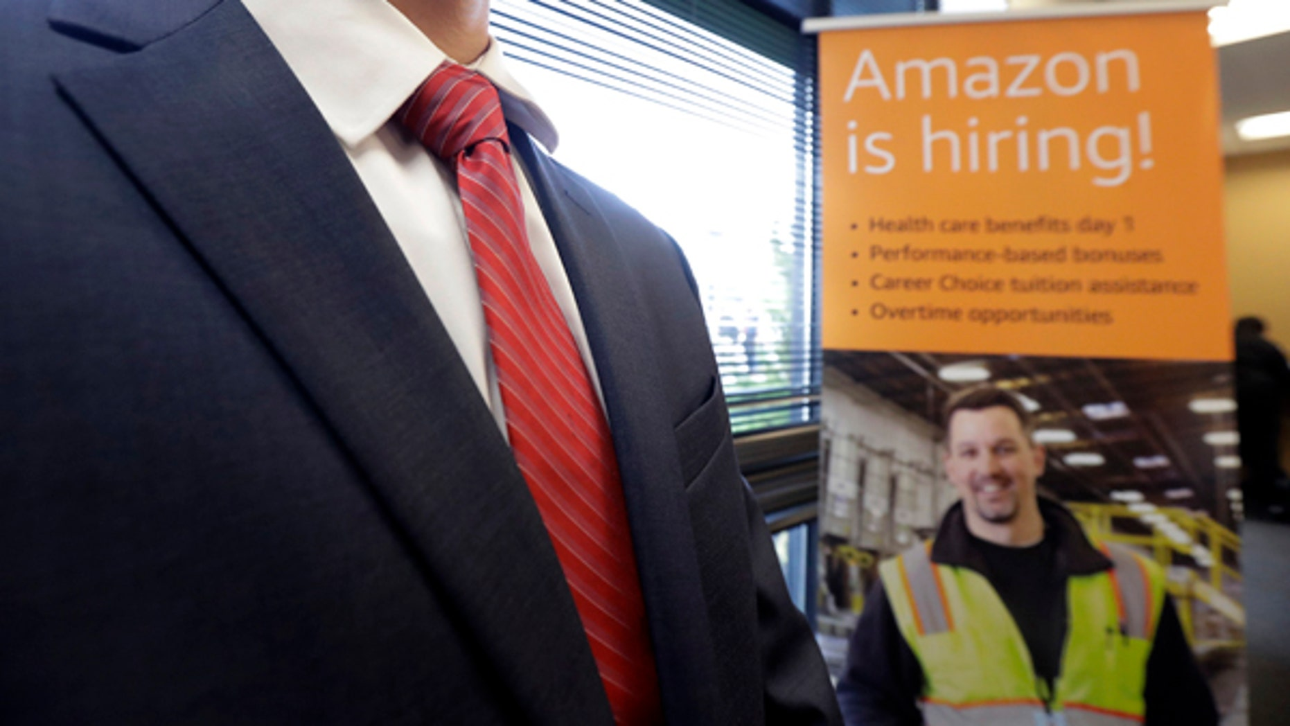 Amazon plans to make thousands of job offers on the spot at nearly a dozen U.S. warehouses.