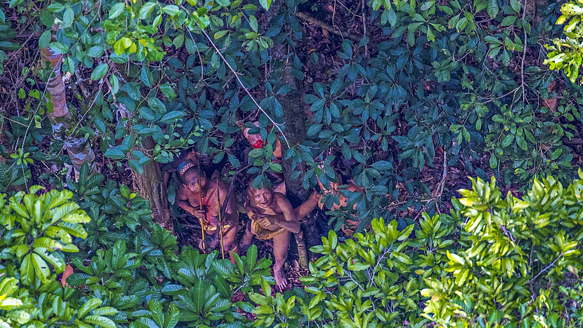 A small group of an isolated indian in Amazon, Brazil. (PHOTOGRAPH BY RICARDO STUCKERT).