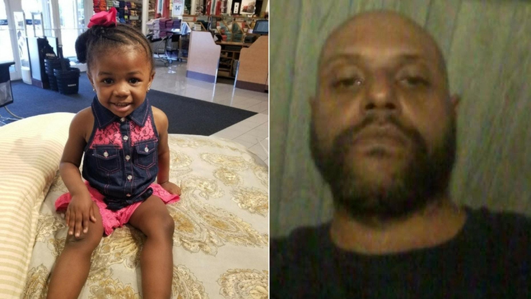 Sandra Renee, 2, and Grady Barrett, 42. (Detroit Police Department)