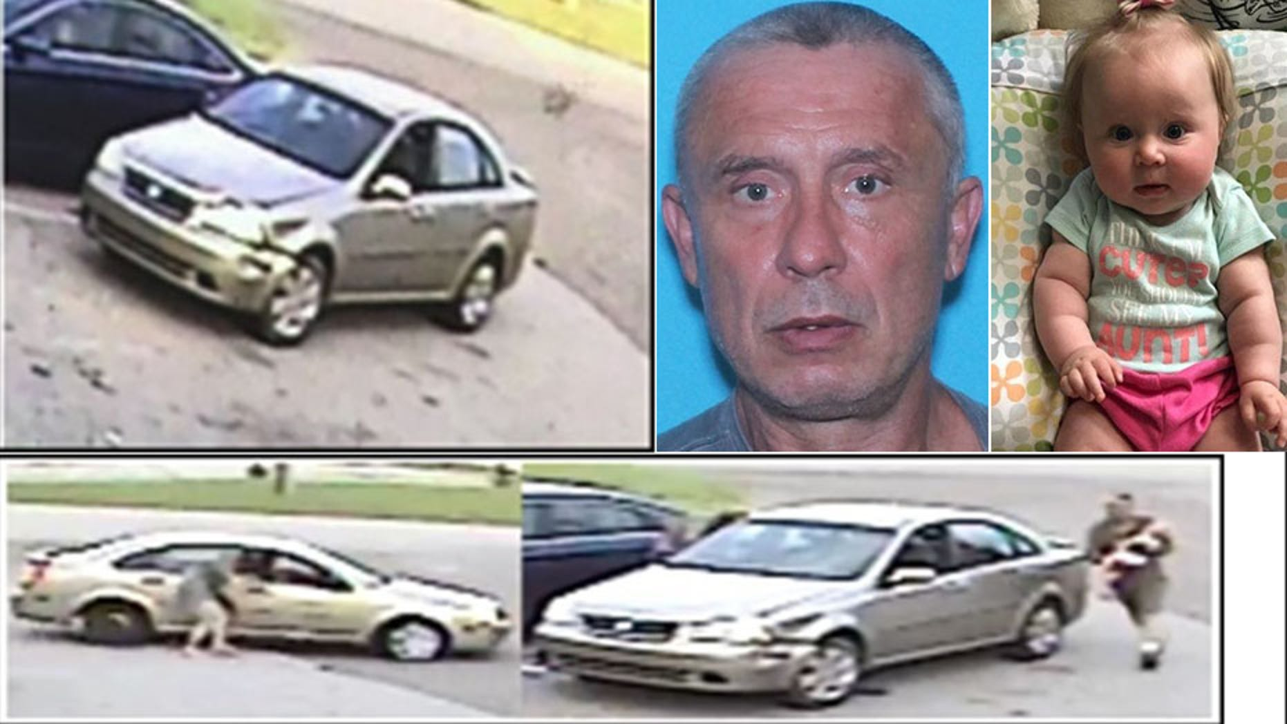 Carl Ray Kennedy is believed to be traveling in the vehicle pictured after abducting Emma Grace Kennedy on Sunday, police say.