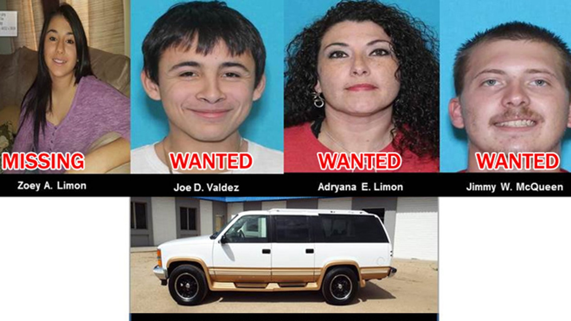Amber Alert issued for a Texas teen believed to be kidnapped by mom and two men.